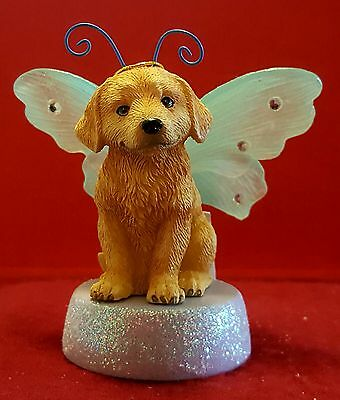 Kimberlin Wings lighted ornament figurine Golden Retriever dog puppy new