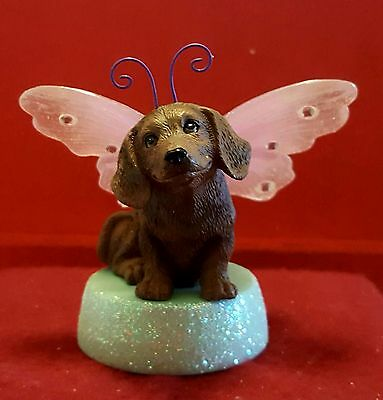 Kimberlin Wings lighted ornament figurine Dachshund doxie dog puppy new