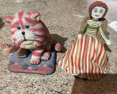 Set Of 2 Bagpuss Ornaments Limited Collection Ceramic