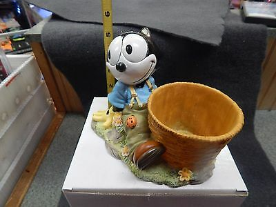 Brand New Felix The Cat Garden Planter Candy Dish Lady Bug On Knee