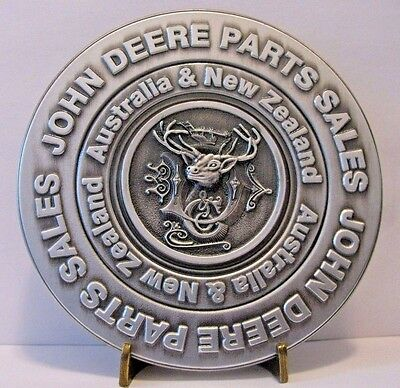 John Deere Parts Sales Australia New Zealand PEWTER Medallion 1884 Deer Logo jd
