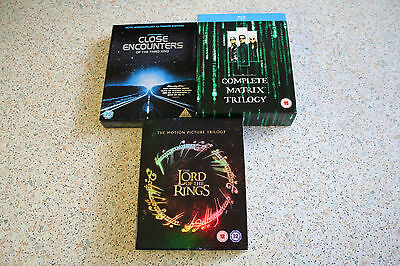 3 Blu-ray Box Set Bundle - Lord of the Rings, Matrix and Close Encounters