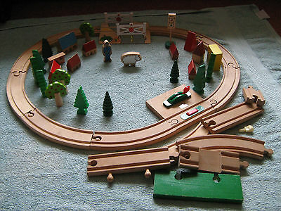 Brio Wooden Train Track & Accessories (Including level crossing)