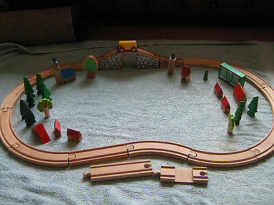 Brio Wooden Train Track & Accessories (including bridge & carrage)