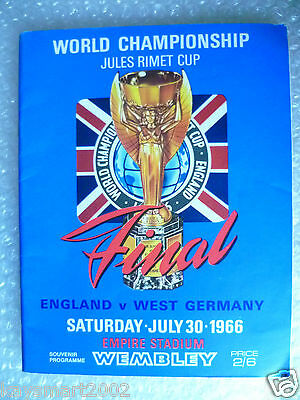 1966 World Cup Final Programme - ENGLAND v WEST GERMANY (Original*, Excellent*)