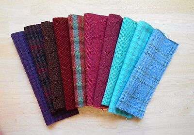 Hand Dyed Wool Texture Bundle Rug Hooking,Applique, Penny Rugs,Textile Arts