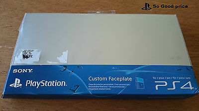 Custom Faceplate PS4 Sony playstation 4 Argent Silver Neuf