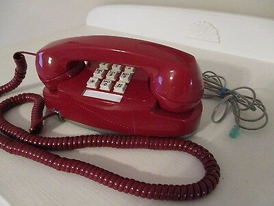 Vintage Western Electric Red Princess Touchtone Telephone Works!