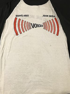VINTAGE HALL And OATES CONCERT T SHIRT-Around The World '80 Tour-LARGE-1980