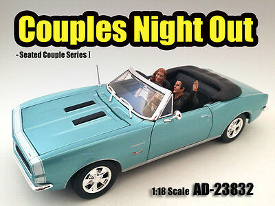 Couples Night Out#1 -Set of 2 seated-1/18 scale figure/figurine-AMERICAN DIORAMA