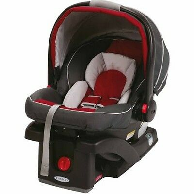 Graco Baby Newborn Car Seat SnugRide Click Connect 35 Infant Color Red - Black