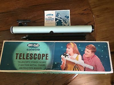 Vintage Skil Craft Satelite 40/80 Power Telescope Box Manual - No. 472