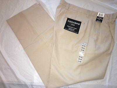 Nwt Docker's Tour Bedford Cord Double Pleat Relaxed Fit Pants Size 32