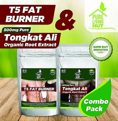 Tongkat Ali & T5 Fat Burner Fitness Combo, Weight loss, Muscle Gain