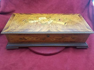 Vintage Reuge 3 Classical Tune 144 Note Sublime Harmony Burl Wood Music Box