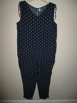 Old Navy Maternity Jumper Jumpsuit in Print Size Large