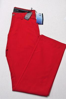 New Mens Size 28/32 Galvin Green Ventil8 polyester golf pants Red