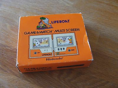 "Lcd game Nintendo  "" Life boat "" game watch"