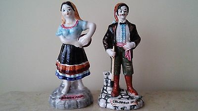 Antique Italian Calabria figurines.