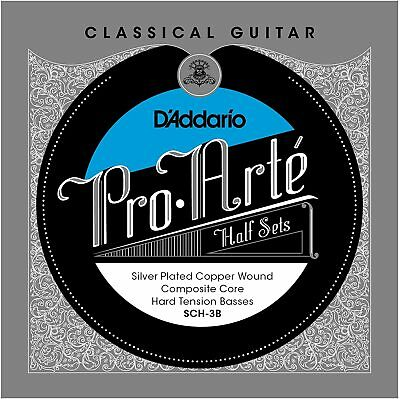 D'Addario Silver Copper on Composite Core Classical Guitar Half Set Hard Tension
