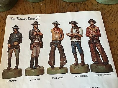"""SCULPTURE By Michael Garman """"The FRONTIER SERIES"""" (9"""") Cowboys Statues FULL SET"""