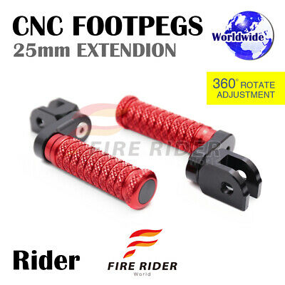For Honda VFR 800 F /ABS 98-15 99 00 01 02 03 04 FR CNC 25mm RD Front Footpegs