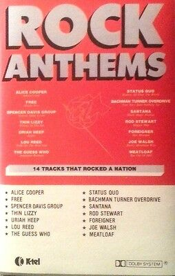 Various Artists Cassette Tape Rock Anthems Free Post Within Australia