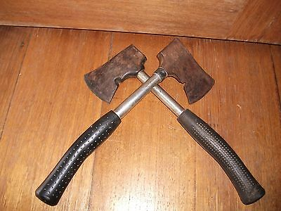 A Pair of Vintage Tomahawks all Steel  1 made in Japan Axe
