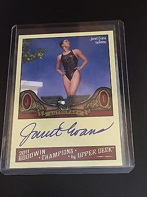 2011 Upper Deck Goodwin Champions Janet Evans Auto Card ~ Olympic Swimming