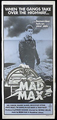 MAD MAX Vintage Original Australian daybill Movie poster Mauve