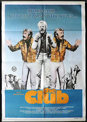 THE CLUB 1980 Graham Kennedy COLLINGWOOD FOOTBALL One Sheet Movie poster