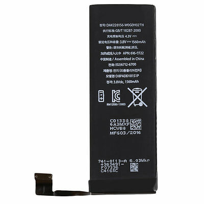 1560MAh Li-ion Battery Replacement Part With Flex Cable for iPhone 5S/5C SM