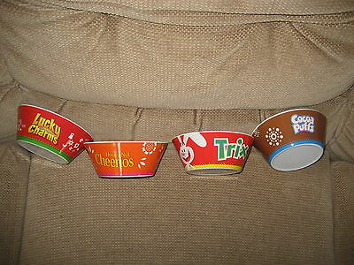 4 Heavy Plastic General Mills Characters Cereal Bowls-   Brand New/never Used