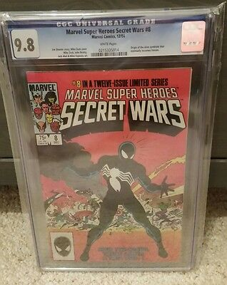 Secret Wars #8 - Cgc 9.8 White Pages, 1St Symbiote Black Costume!