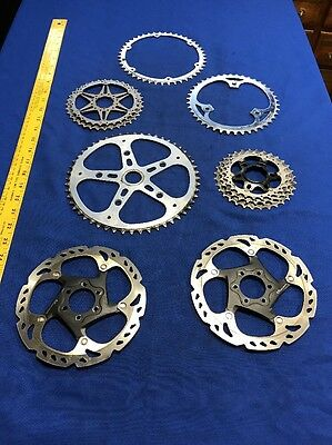 7 Industrial Steampunk Large Metal Gears Cogs Sprocket Parts Supplies Lot 2