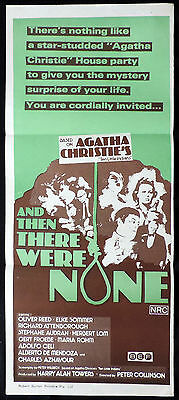 AND THEN THERE WERE NONE Original Daybill Movie poster Agatha Christie