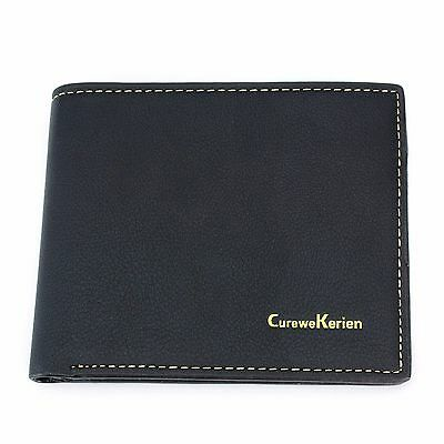 Leather Wallet Bifold Card Men S Id Credit Mens Genuine Holder New Purse Black