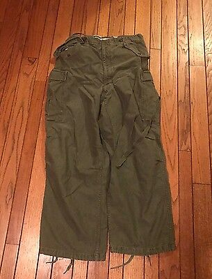 1953 DDT Korean War M-51 Field Pants, M-1951 Trousers, No Width?  34 Length.