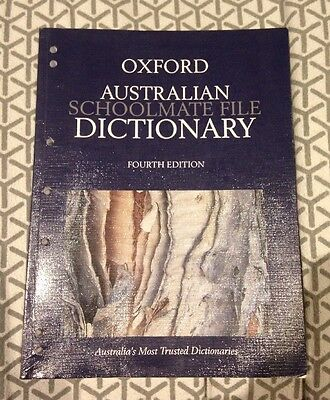Australian Schoolmate File Dictionary by Oxford 4th Edition