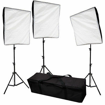 Photo Video Lighting Kit 3000w Softbox Stand Photography Light with Carrying Bag