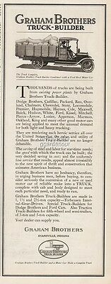 1918 Graham Bros Evansville IN Truck Builder Used Ford Conversion Print Ad
