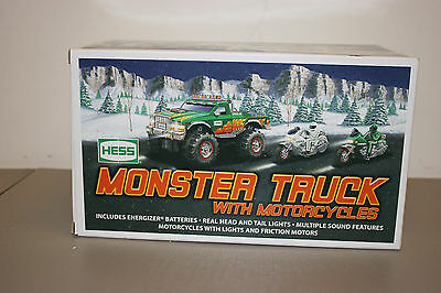 2007 Hess Monster Truck with Motorcycles. New in Box