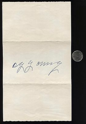 Cy Young Signed Letter Autographed HUGE SIGNATURE Hall of Fame HOF