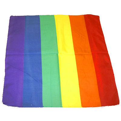"Rainbow LGBT Flag Bandana Doo Do Rag 21"" x 21"" New Biker Cap Hat Head Wrap"