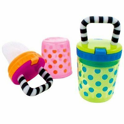 Sassy Polka Dots Teething Feeder - Assorted Colors (Pack of 2)