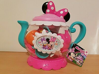 New & Sealed! Disney Junior Minnie Mouse Teapot Play Set Gift