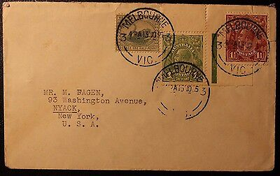 Australia 1935 Kgv Cover With W.a Swan Melbourne Cds