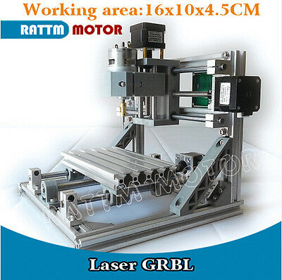 3 Axis 1610 GRBL Control DIY mini CNC Engraver Milling Laser Machine Wood Router