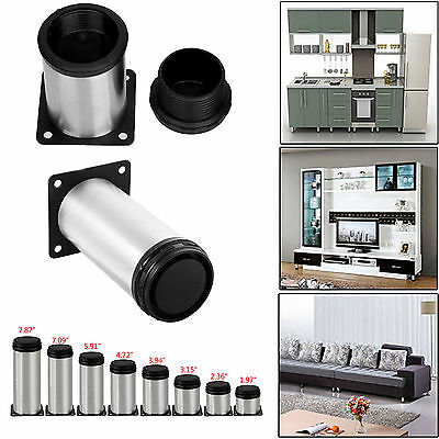 1PC Cabinet Metal Legs Adjustable Stainless Steel Kitchen Feet Round Stand Base