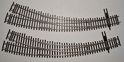 2 in excellent condition SHINOHARA code 100 NS sharp curved turnouts (switches)